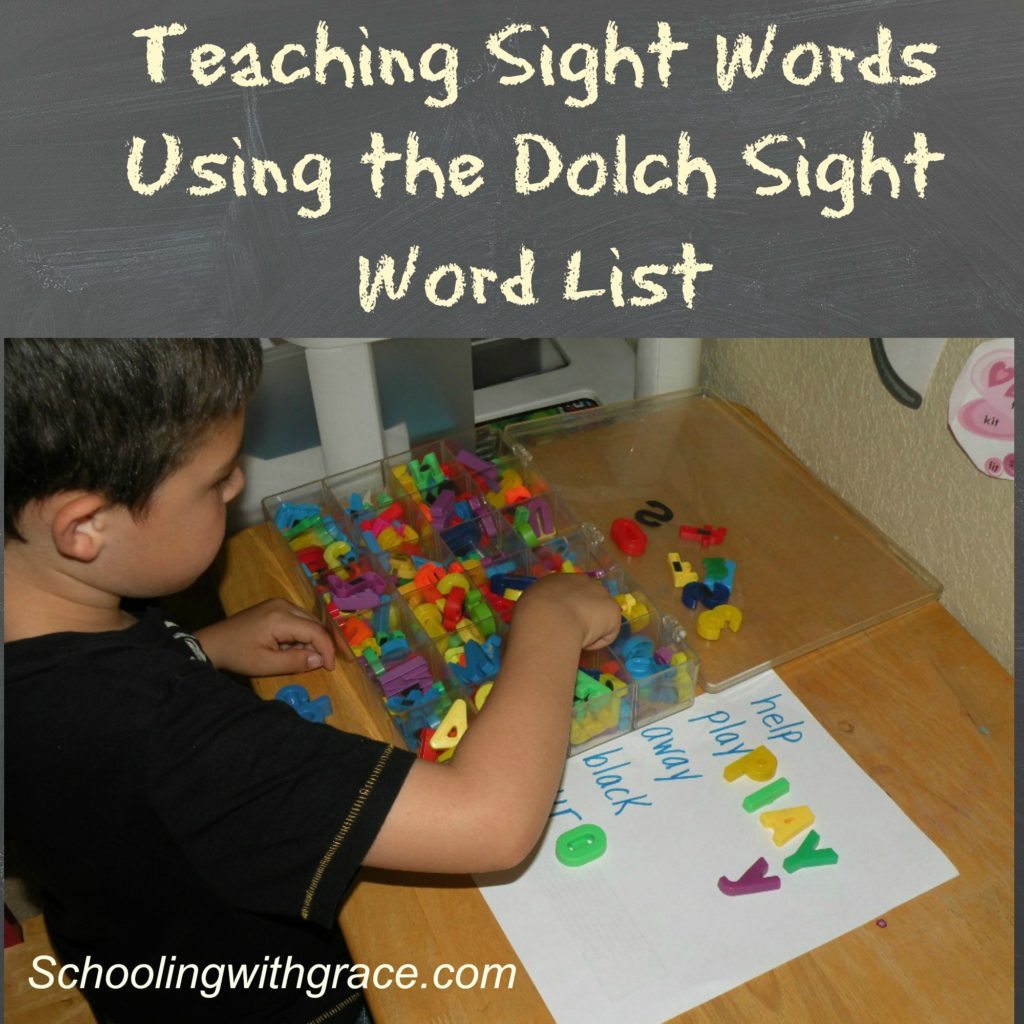 Teaching Sight Words Using the Dolch Sight Word List