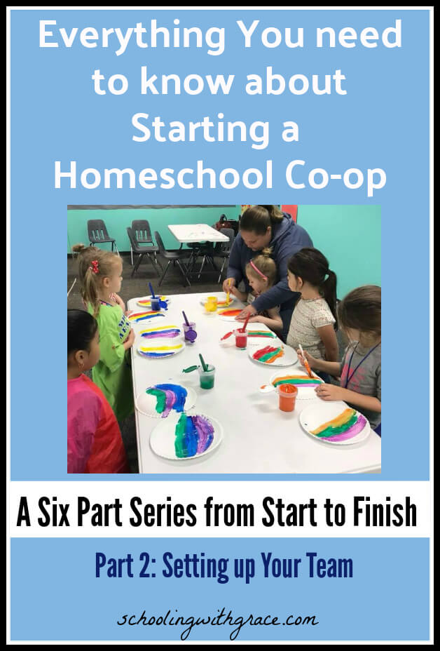How to start a homeschool coop setting up your team