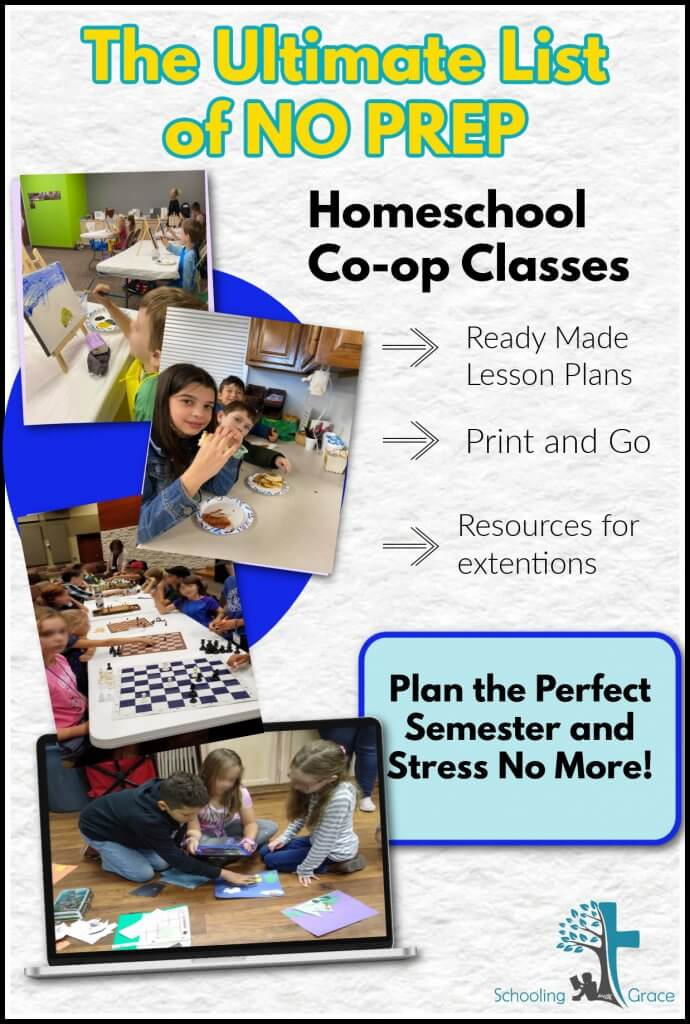 No prep homeschool co-op classes