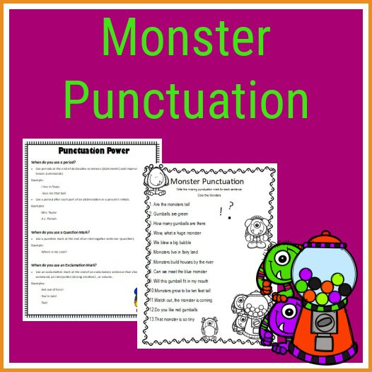 Monster Punctuation Practice